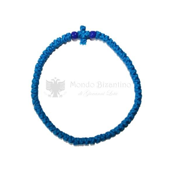 Prayer rope Komboskini blue thin 01