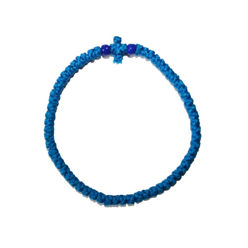 Prayer rope Komboskini blue thin 01
