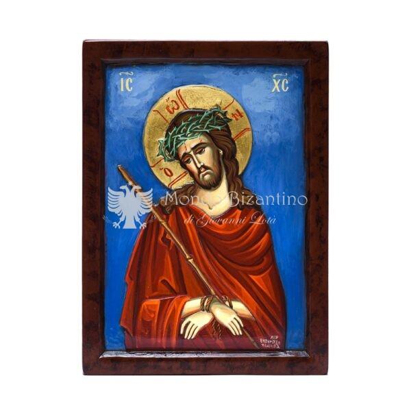 icona ecce homo nimfios dipinta a mano