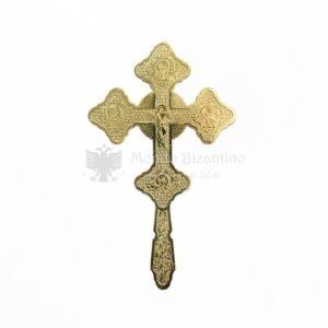croce benedizionale metallo dorato risurrezione