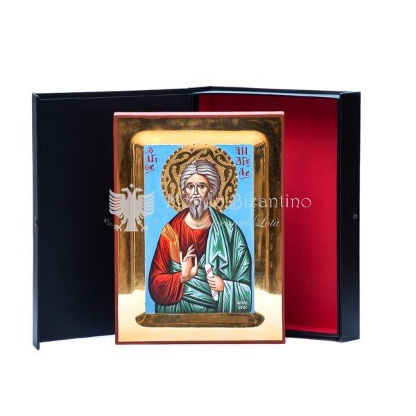 icona san andrea apostolo oro 24 kt