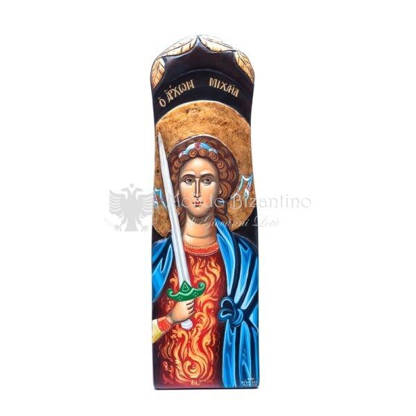 icona san michele arcangelo dipinta a mano