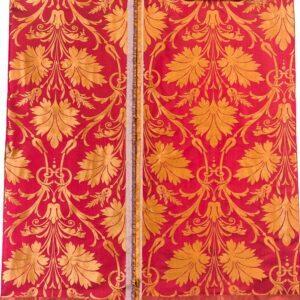 damasco rosso 1860 pezza doppia