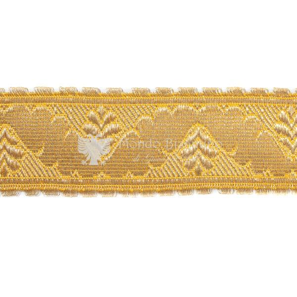 gallone giardino tradizionale 3 cm in oro mezzofino