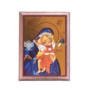 icona madonna tenerezza carta lucida