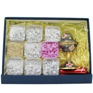 kit angolo bello scatola incensi greci varie profumazioni e incensiere da appoggio 2 1 scaled 1