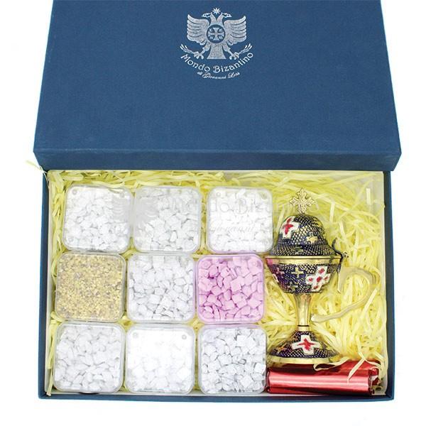 kit angolo bello scatola incensi greci varie profumazioni e incensiere da appoggio 2 scaled 1