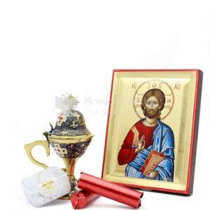 kit cristo con incensiere di smalto scaled 1
