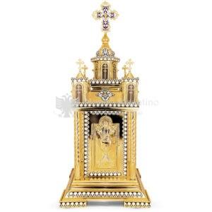 Artoforio Tabernacolo in metallo dorato size 40x40x95 cod8 61