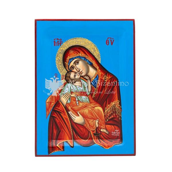 icona dipinta a amno madonna della tenerezza 30x22 1