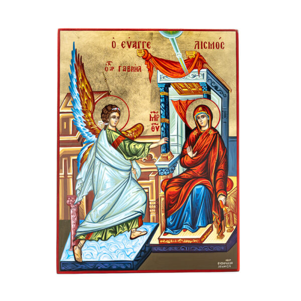 icona dipinta a mano annunciazione 30x40 1