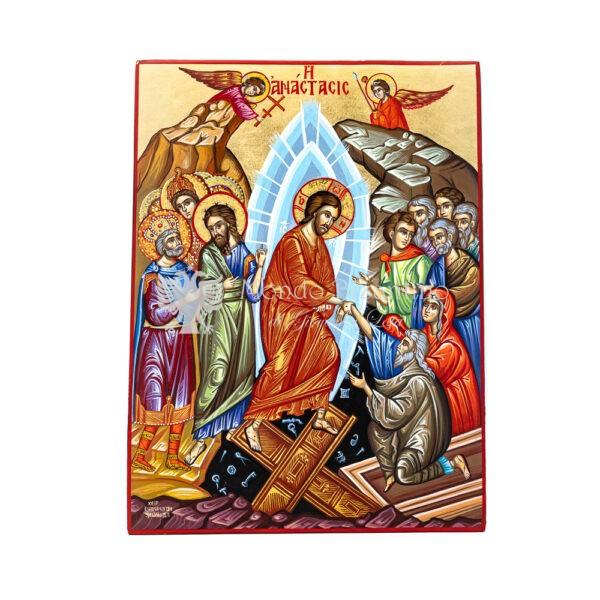 icona dipinta a mano della risurrezione anastasis 30x40 1