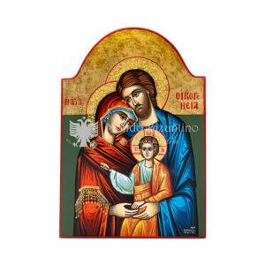 icona dipinta a mano sacra famiglia