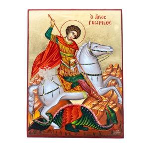 icona dipinta a mano san giorgio 30x40 1