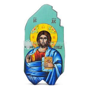 icona litografata cristo pantocrator bordi smussati