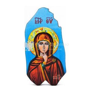 icona litografata madonna del silenzio bordi smussati