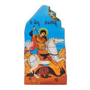 icona litografata san giorgio bordi smussati