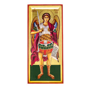 icona serigrafata san michele arcangelo figura intera