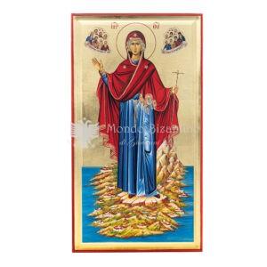 icona serografata su oro madre di dio agioritissa regina del monte athos