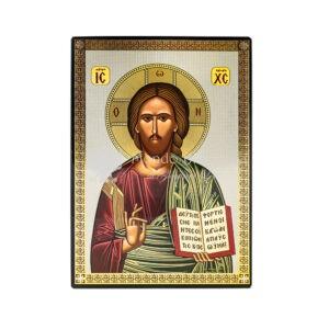 icona stampata fondo lucido cristo pantokrator