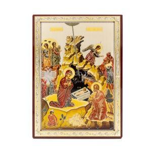icona stampata su fondo lucido la nativita