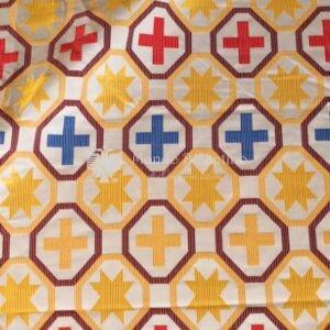 tessuto damascato I 24 101 croci motivo slavo
