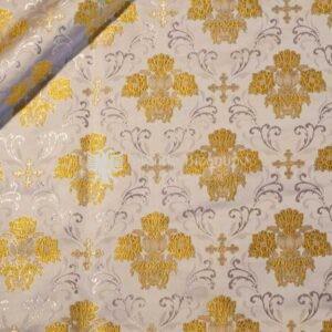 tessuto damascato I 25 102 bianco disegno oro