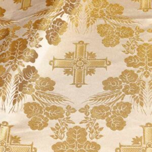 tessuto damascato I 66 101 bianco oro