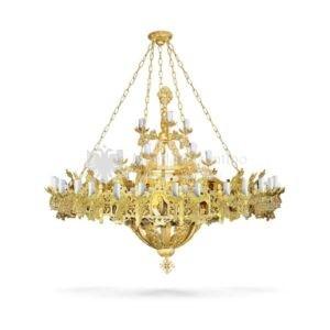 lampadario bizantino alluminio dorato 100 819