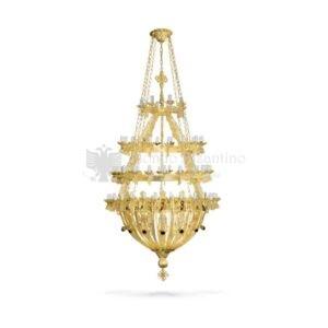 lampadario bizantino alluminio dorato 97 801