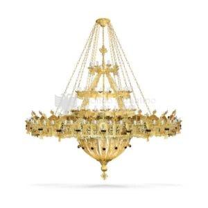 lampadario bizantino alluminio dorato 99 816