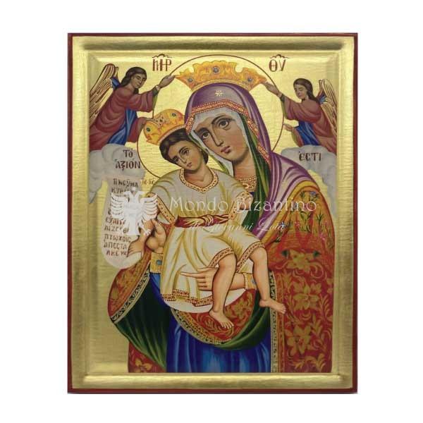 icona serigrafata madre di dio axion estin