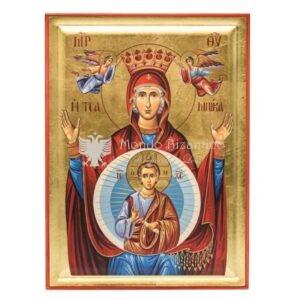 icona serigrafata madre di dio platitera