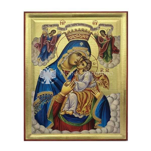 icona serigrafata madre di dio regina degli angeli