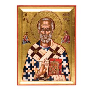 icona serigrafata san nicola di bari vescovo di mira